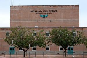 Highland's building after school ends at Highland High School on Sept. 19, 2018.