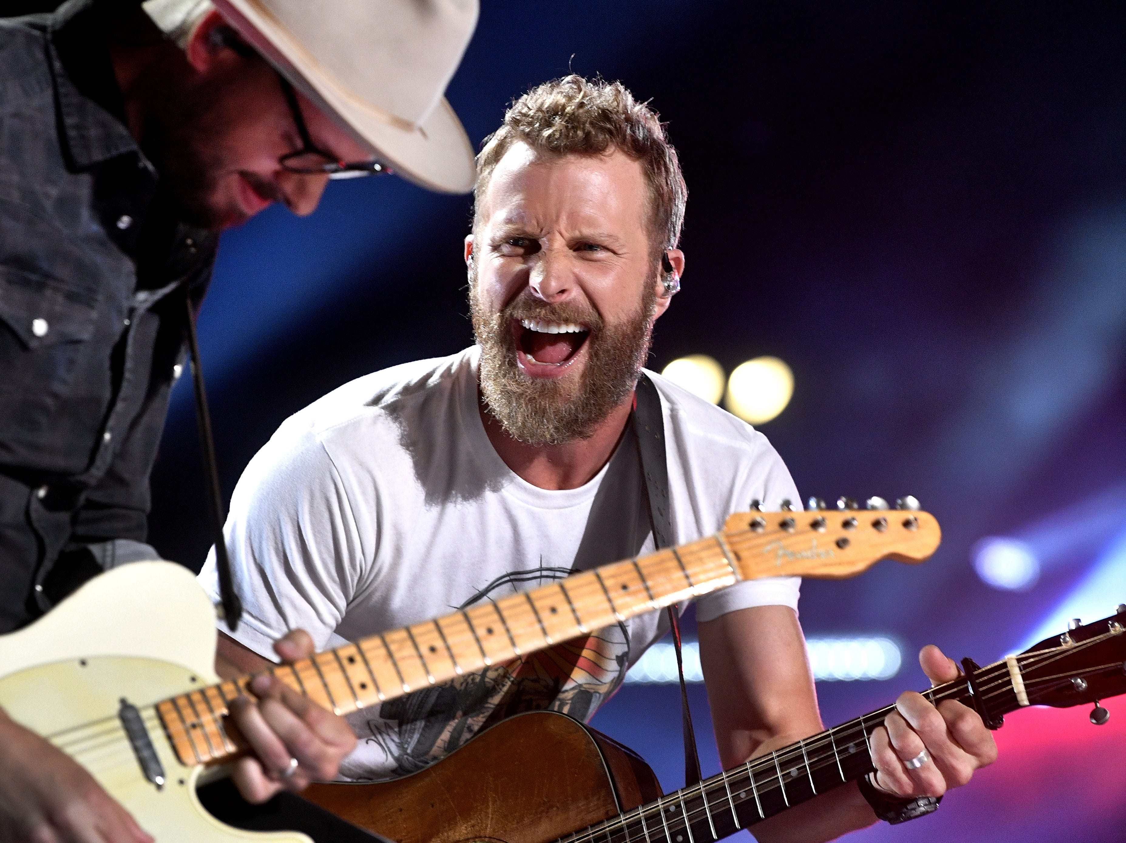 Dierks Bentley performs at the 2018 CMA Music Fest Sunday, June 10, 2018, at Nissan Stadium in Nashville, Tenn.