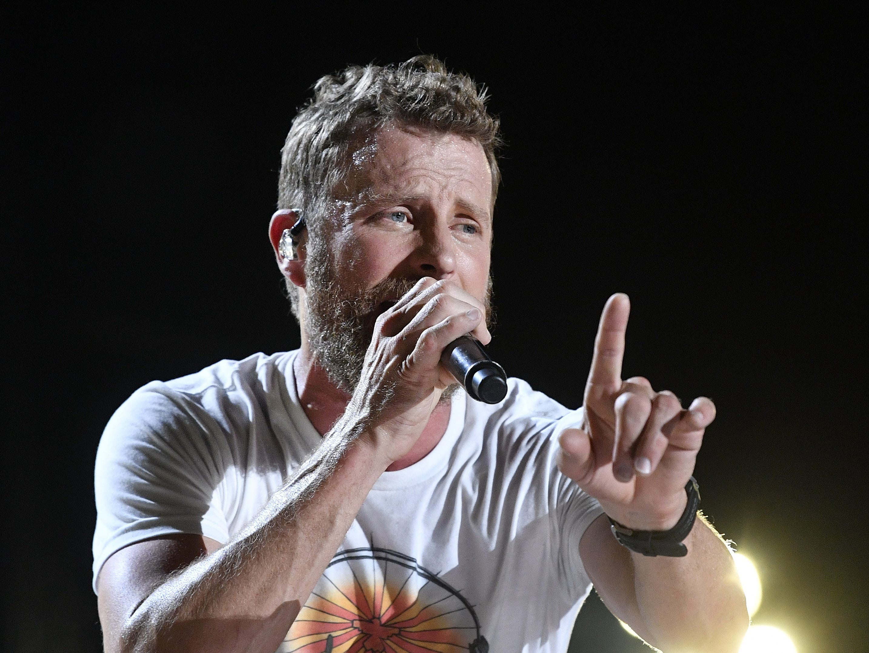 Dierks Bentley performs at the CMA Music Fest Sunday on June 10, 2018, in Nashville.