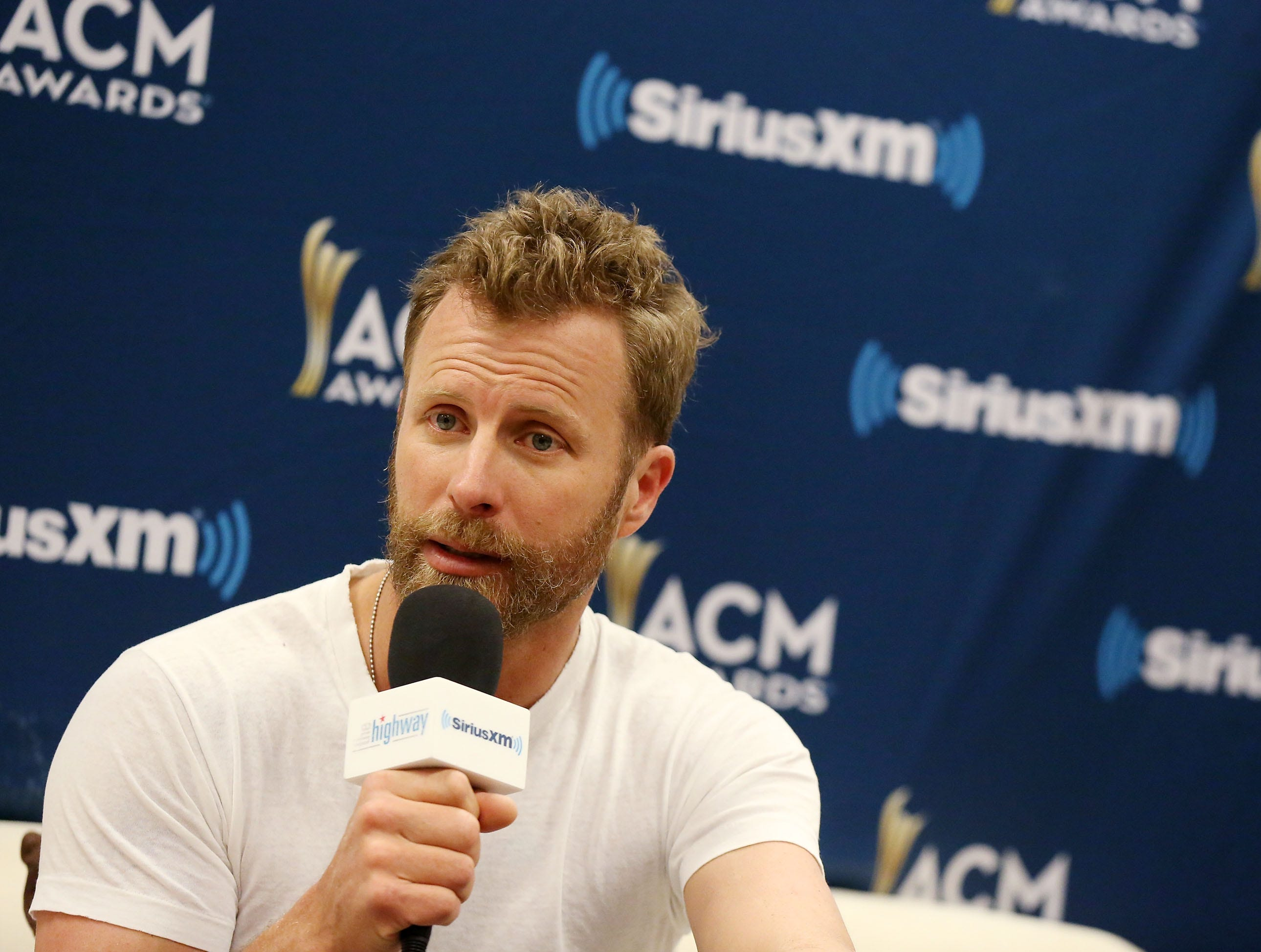 Dierks Bentley attends SiriusXM's The Highway channel broadcast at the Academy of Country Music Awards on April 14, 2018, in Las Vegas.