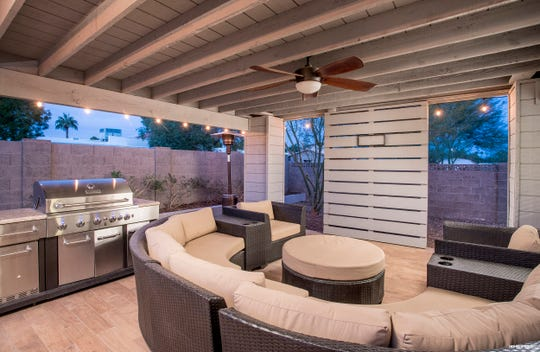 Guests of this home rave about the backyard, which includes views of Camelback Mountain.