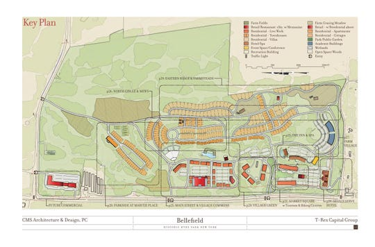 The site plan for the Bellefield at Historic Hyde Park development.