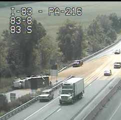 I-83 crash cleared