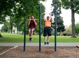 Have you ever tried these things? Do they work? YDR reporter John Buffone tried out the exercise stations scattered throughout Farquhar Park in York .
