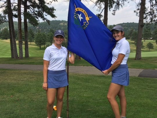 Kaitlin Fleiner, left, and Abbi Fleiner, are two of the top golfers in the North.
