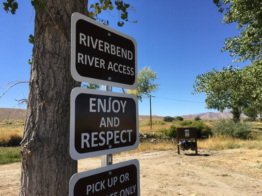 Access point at Pitchfork Ranch to the East Walker River in the Walker River State Recreation Area on Sept. 19, 2018.