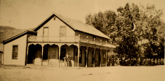 The original Lawton's Hot Springs, where the shuttered River Inn now stands west of Reno.