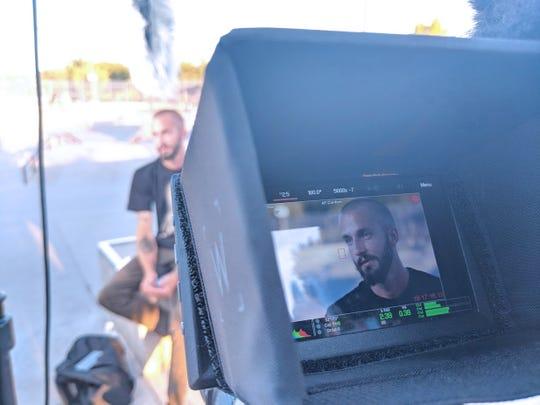 Ryan Miller talks to the camera.