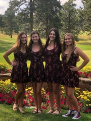 The four Northern Nevada Girls who qualified through Northern Nevada Junior Golf Association this summer and represented Northern Nevada at Girls Junior Americas Cup in Evergreen, CO in July. They finished 12th out of 18 teams.  Left to right: Jill Beglin (Carson),  Karen Beglin (Carson), Abbi Fleiner (Reno) and Kaitlin Fleiner (Reed).