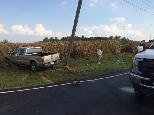 Two vehicles were involved in a collision Thursday at the intersection of Round Barn and Gaar Jackson roads.