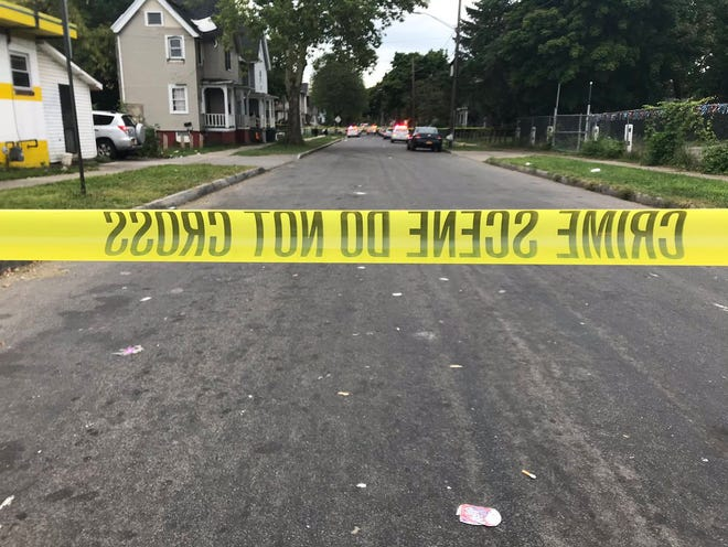 Wilkins Street in 2018 for the investigation into the double homicide.