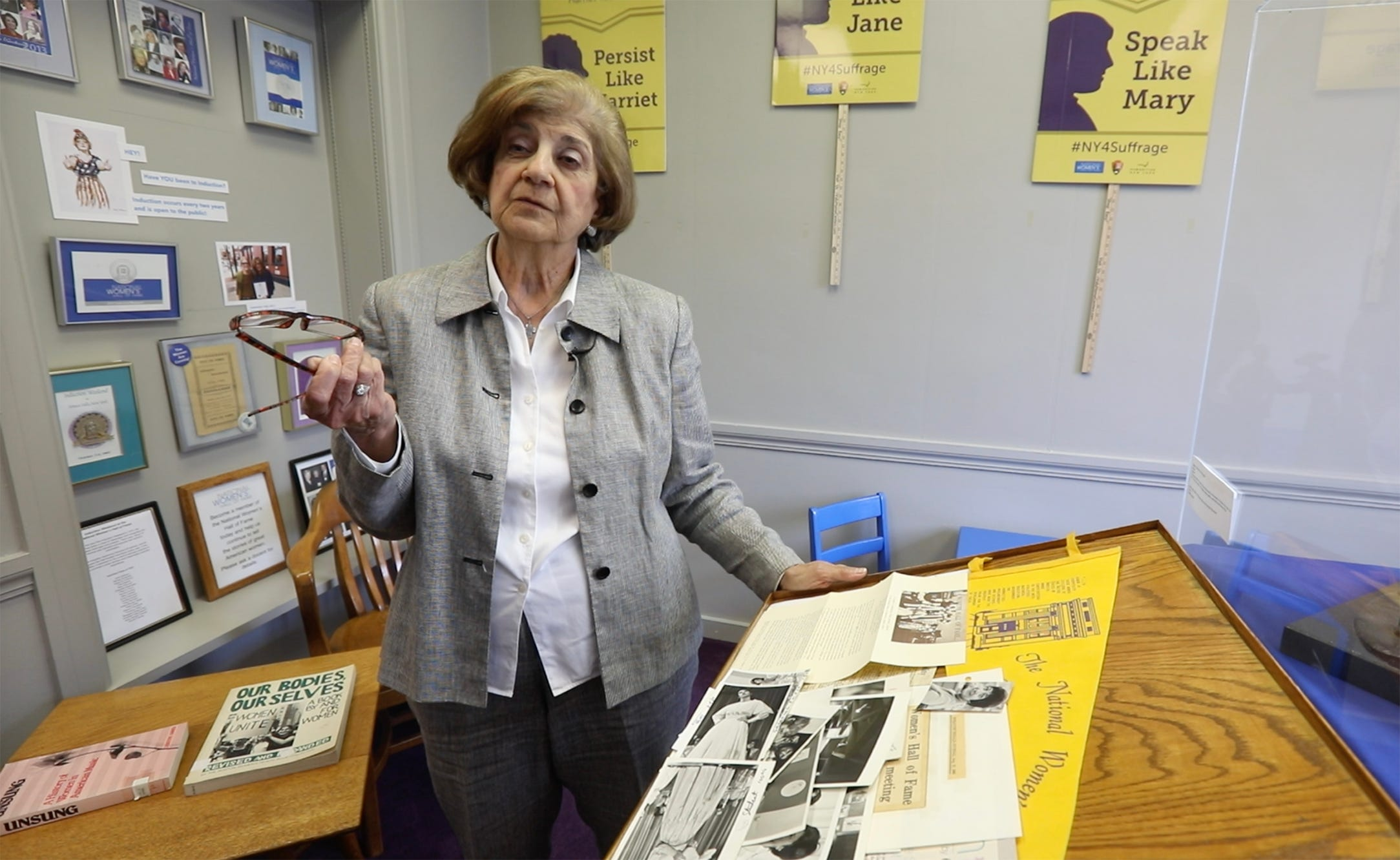 Ann Bantuvanis, one of the founding members of the National Women's Hall of Fame in Seneca Falls recounts the early days.  Bantuvanis was active with the organization until 1980.  She now lives in Ithaca.