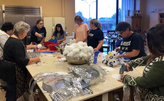 For two days in September, participants in the Mums for Love project gathered to create mums and garters for special needs students at San Angelo ISD to wear during homecoming.