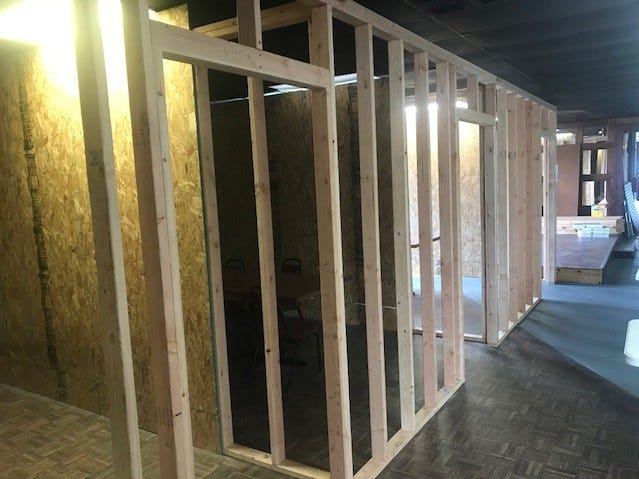 Private game rooms being built at Phat Catz Gaming, 2019 N Bryant Blvd.