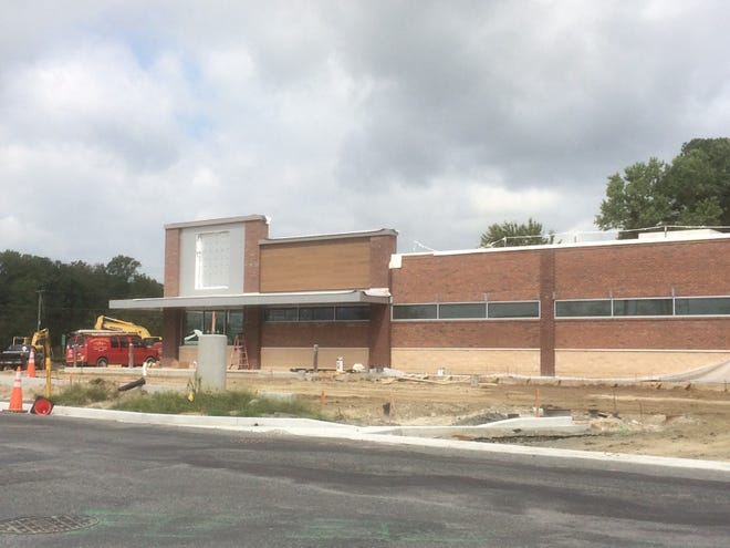 Construction of the new Salisbury Aldi grocery store on Dagsboro Road continued on Thursday Sept. 20, 2018. Aldi is slated to come to the area in fall of 2018.