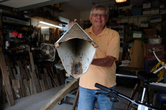 Local artisan Gary Crowl has lots of interesting finds, including this canoe head.