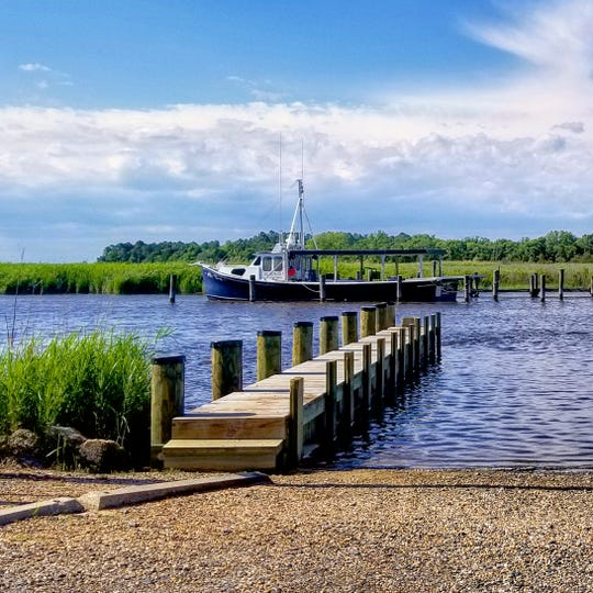 Second place was awarded to Ruth Ann Workman for her photo of a boat on Wetipquin Creek.