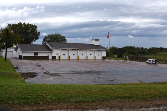 The Split Rock Volunteer Fire Department station on Highway 42 near Six Mile road is shown on Thursday, Sept. 20, 2018 in Sioux Falls, S.D. It is among several homes and businesses that will see their ability to get in and out of their properties restricted next year when the state and city of Sioux Falls team up on a major reconstruction project.