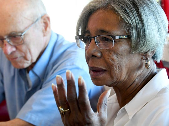 In 1964, Barbara Lee was the first African American to work curb service at Wright's Dairy-Rite drive-in restaurant. She speaks during an interview on Wednesday, Sept. 19, 2018.