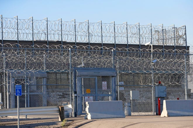 The gate of the Timpanogos Women's Facility is shown at the Utah Department of Corrections on Sept. 19, 2018, in Draper.