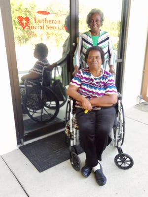 Better Angels Senior Housing tenant Mary Prater (seated) with Malinda Henderson, LSSNF on-site staff.