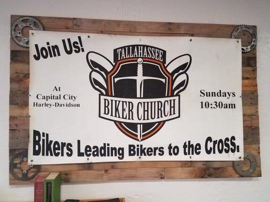Sign at the Bike Church on North Monroe Street.