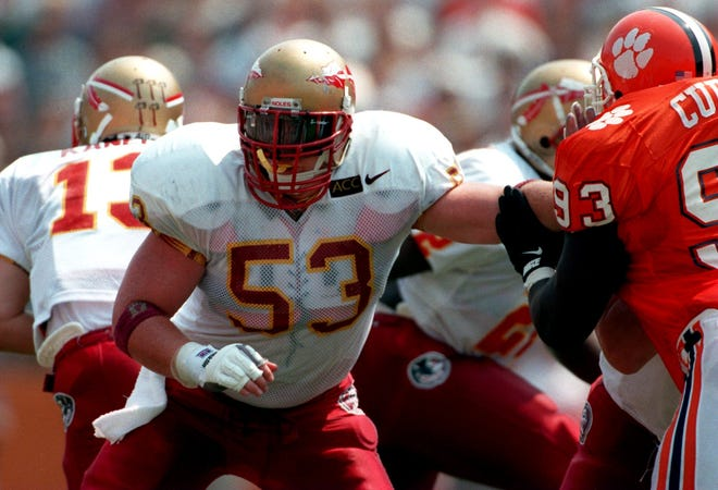 FSU center Clay Shiver earned All-ACC first-team honors in 1993.