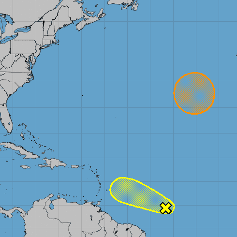 Tropical wave forms in Atlantic east of Caribbean Sea