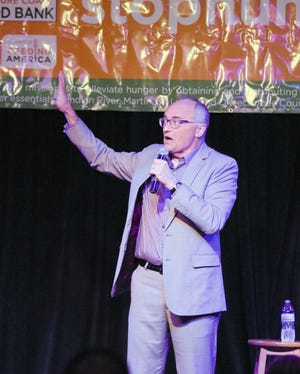 Comedian Brad Upton returns this year as the headliner for the 4th Annual Out Laugh Hunger event to benefit Treasure Coast Food Bank.