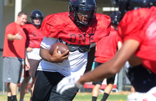 Grace Brethren's Lontrelle Diggs is a powerhouse running back who helped the Lancers win the CIF-SS Division 8 title last season.