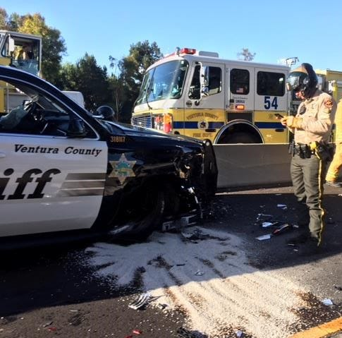 Sheriff's deputy involved in Highway 101 crash in Camarillo