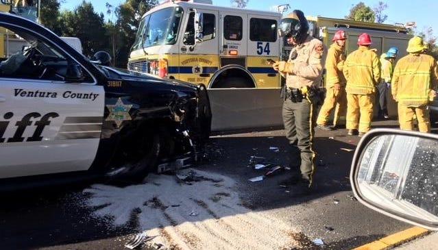 Sheriff's deputy involved in Highway 101 crash in Camarillo