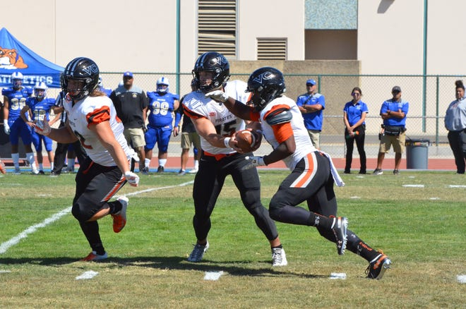 Freshman Brock Domann became the first Ventura College quarterback to play every offensive snap of a game this season during last Saturday's 29-28 win at Hancock.