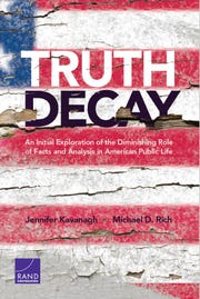 Researchers at the Rand Corp. have written a book on the blurring of fact and opinion.