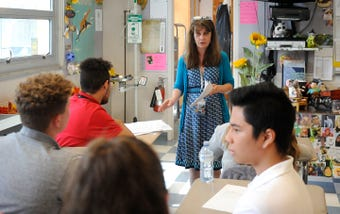 Students at Vineland High School tell The Daily Journal why teacher Vicki Yeager is so special.