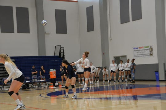Aubrey Cardoza is a sophomore on the College of the Sequoias' volleyball team.