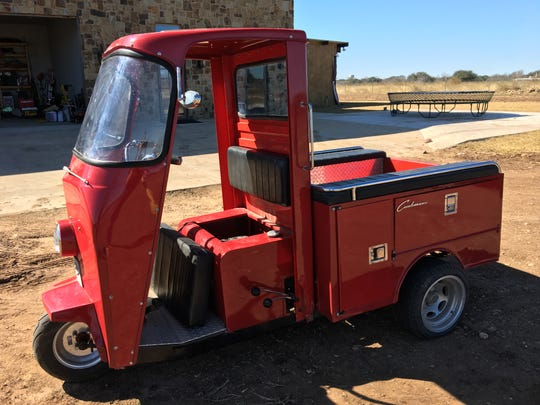 """These Cushman """"Meter Maid"""" trailers are turned into snack carts by Hudson Trailer Company."""