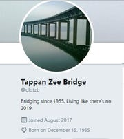 The Twitter page named Tappan Zee Bridge, @oldtzb