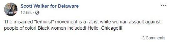 Republican U.S. House candidate Scott Walker went on a lengthy Facebook tirade on Sept. 19.