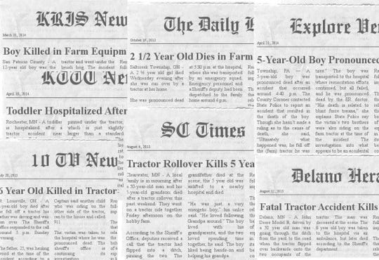 Sadly these headlines appear to often as statistics show that every three days a child dies in an agricultural-related accident.