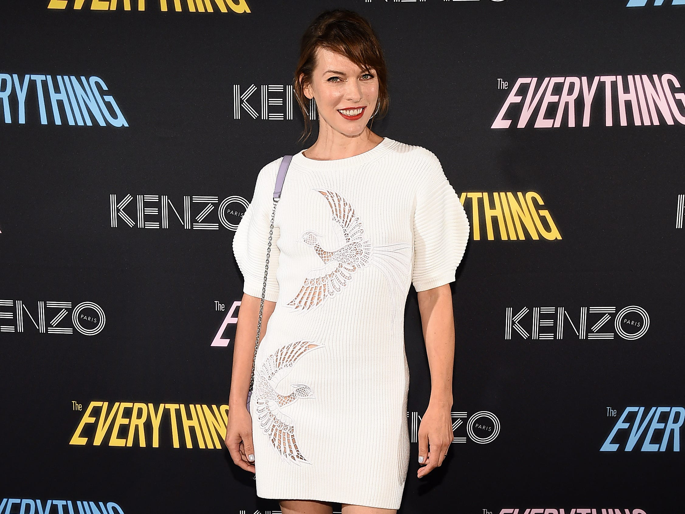 "NEW YORK, NY - SEPTEMBER 07:  Actress Milla Jovovich attends the Premiere of ""The Everything"" A Film By Humberto Leon For KENZO on September 7, 2018 in New York City.  (Photo by Ilya S. Savenok/Getty Images for KENZO) ORG XMIT: 775199226 ORIG FILE ID: 1028968182"