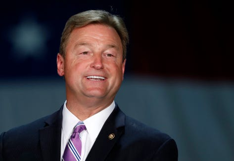 In this Sept. 7, 2018, file photo, Sen. Dean Heller, R-Nev, speaks during a visit by Vice President Mike Pence at Nellis Air Force Base in Las Vegas.