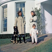 First Lady Jacqueline Kennedy. left, with her sister, Lee Radziwill, and Lee's daughter, Tina, in 1963.