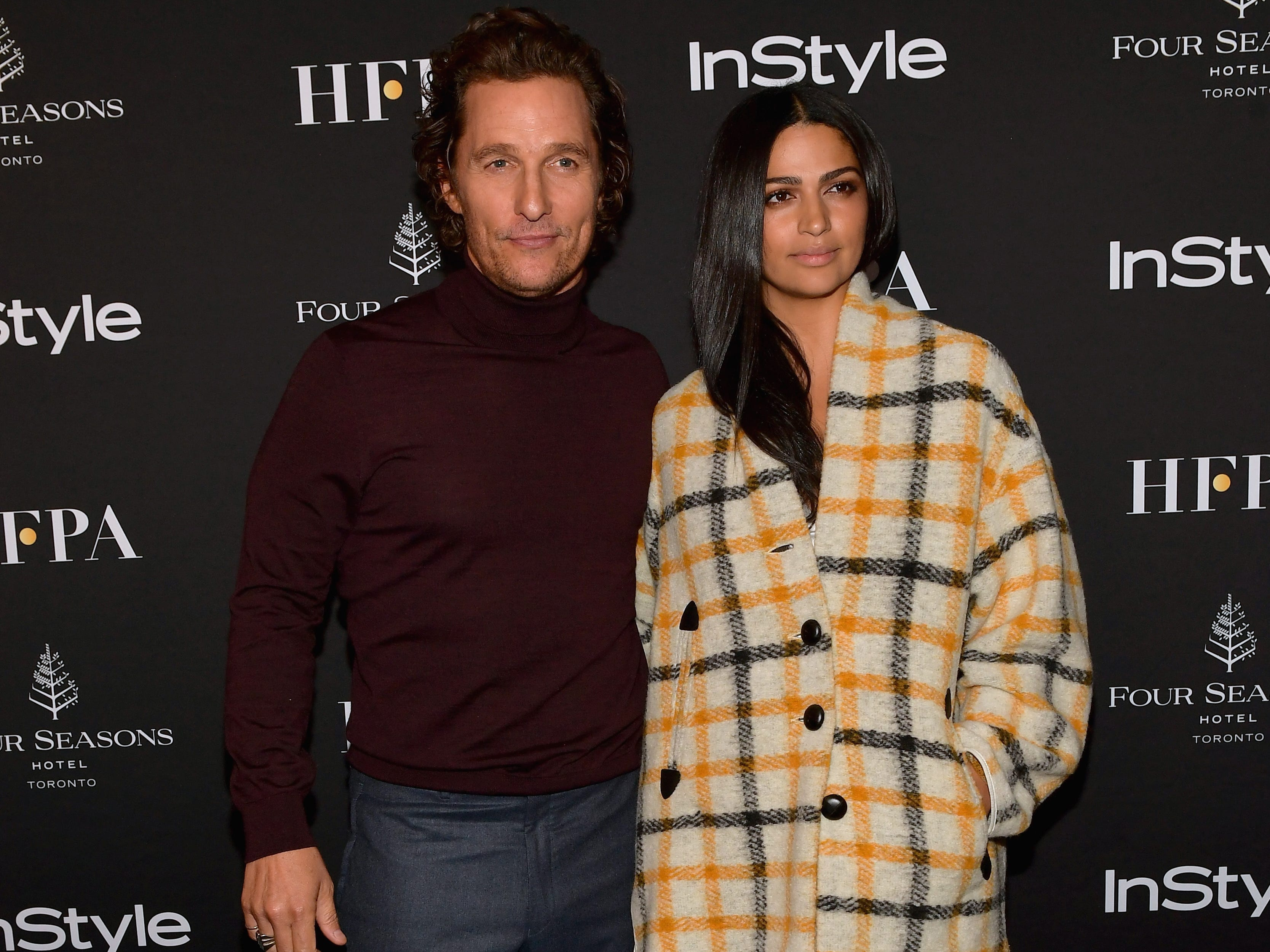 TORONTO, ON - SEPTEMBER 08:  Matthew McConaughey and Camila Alves attend 2018 HFPA and InStyle's TIFF Celebration at the Four Seasons Hotel on September 8, 2018 in Toronto, Canada.  (Photo by Matt Winkelmeyer/Getty Images for InStyle) ORG XMIT: 775214192 ORIG FILE ID: 1029568266