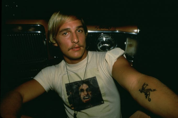 Matthew McConaughey as Wooderson in 'Dazed and Confused.'