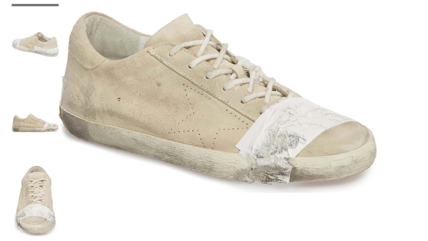 2604686577b3b Nordstrom s  530 taped-up sneakers sell out despite consumer outcry