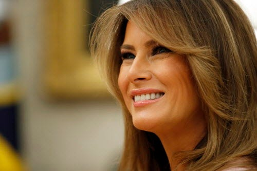 Melania Trump says Blue Room furniture has been restored and will be returned this fall