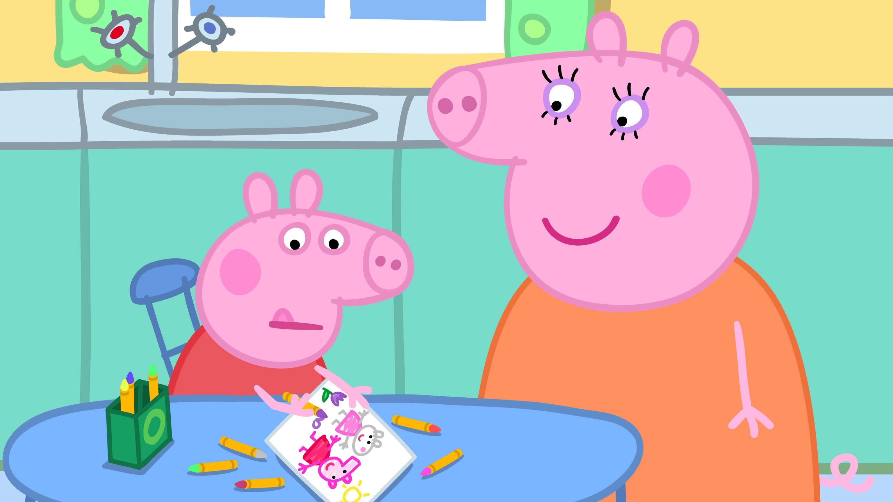 """In """"Suzy Goes Away,"""" Peppa Pig and Suzy Sheep wonder how they're going to carry on being best friends after Suzy moves away."""