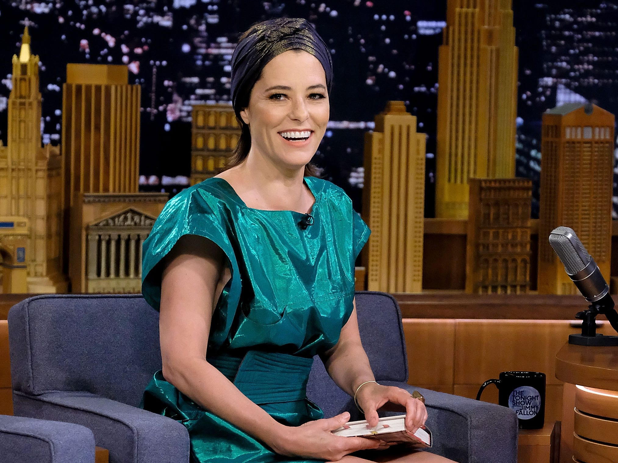 "NEW YORK, NY - JULY 23: Parker Posey visits ""The Tonight Show Starring Jimmy Fallon"" at Rockefeller Center on July 23, 2018 in New York City.  (Photo by Jamie McCarthy/Getty Images) ORG XMIT: 775196199 ORIG FILE ID: 1004379756"