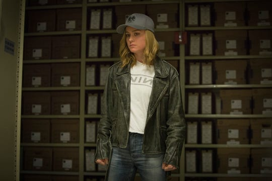 "Even out of her superhero suit, Carol Danvers (Brie Larson) looks plenty tough in ""Captain Marvel."""